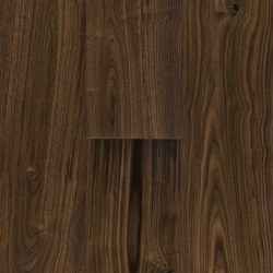 Oil finish, engineered walnut, handscraped, distressed